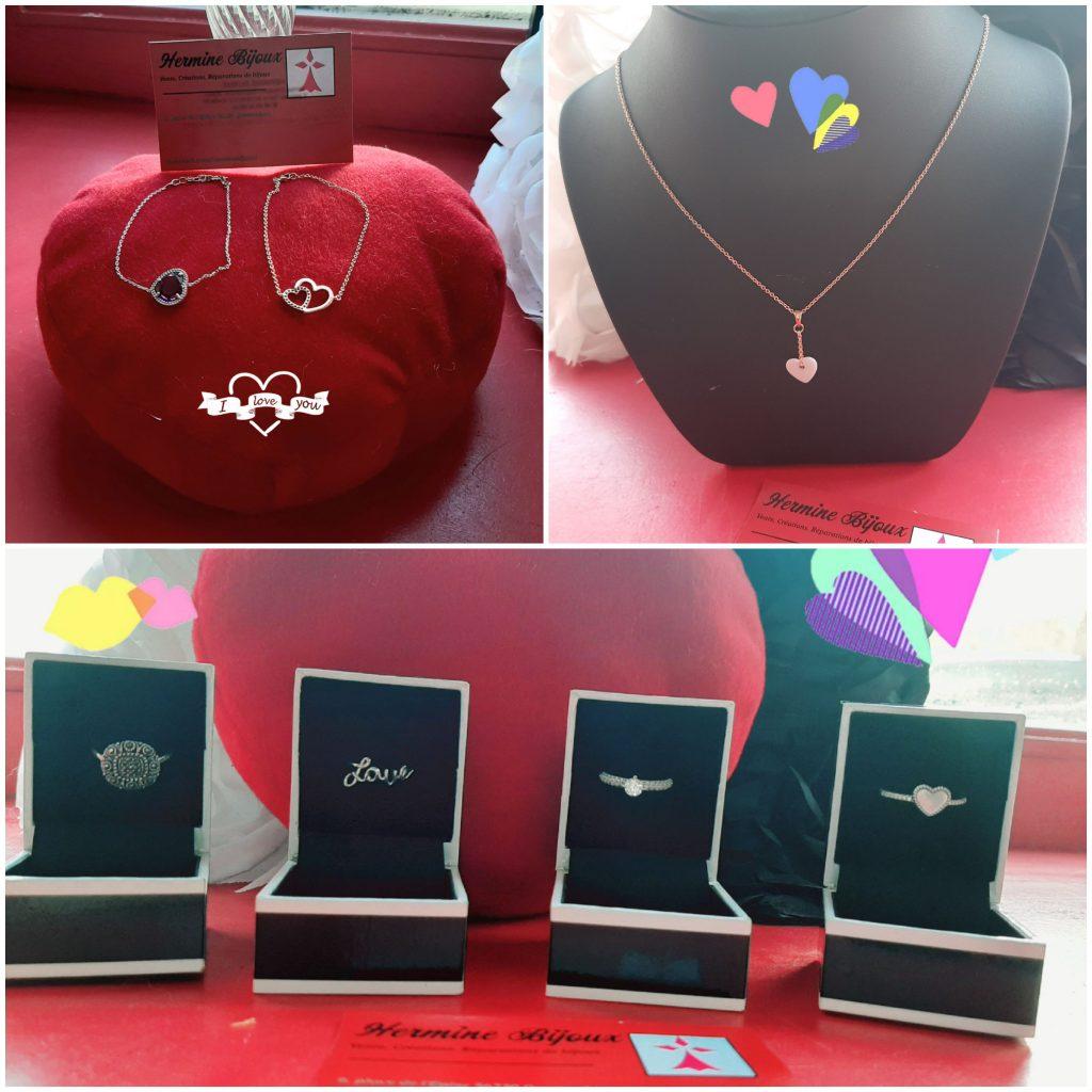 selction de bijoux en argent et plaqué or saint valentin 2020